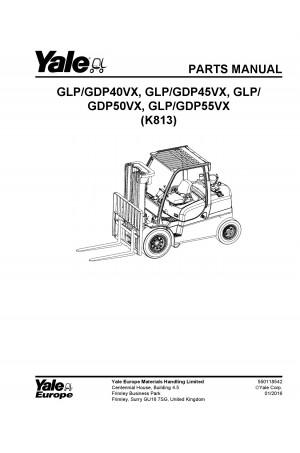 Yale K813E Parts Catalog (Parts Book)